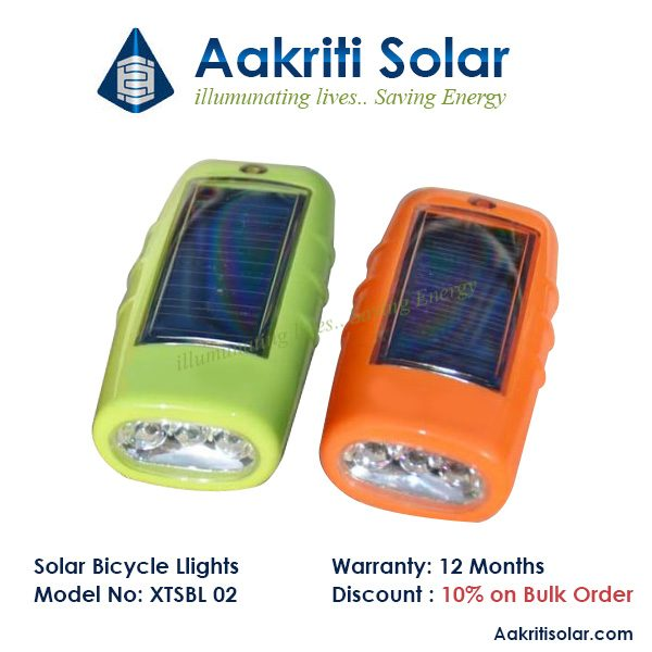 Solar Bicycle Light with USB port and Horn Function